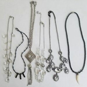 Vintage Modern Statement Necklace Lot Of 6